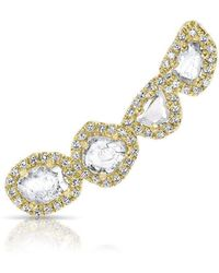 Anne Sisteron - 14kt Yellow Gold Diamond Slice Ear Climber - Lyst