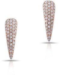 Anne Sisteron - 14kt Rose Gold Diamond Horn Stud Earrings - Lyst