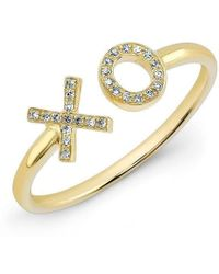 Anne Sisteron - 14kt Yellow Gold Diamond Xo Ring - Lyst
