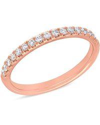 Anne Sisteron - 14kt Rose Gold Lauren Half Diamond Ring - Lyst
