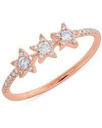 Anne Sisteron - 14kt Rose Gold Diamond Triple Star Carina Ring - Lyst