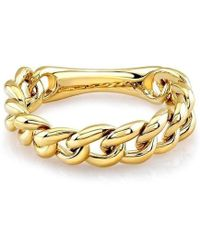 Anne Sisteron - 14kt Yellow Gold Thin Chain Link Ring - Lyst