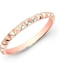 Anne Sisteron - 14kt Rose Gold Pyramid Stacking Ring - Lyst