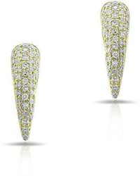 Anne Sisteron - 14kt Yellow Gold Diamond Horn Stud Earrings - Lyst