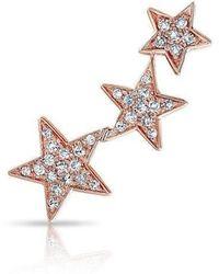 Anne Sisteron - 14kt Rose Gold Diamond Etoile Ear Climber - Lyst