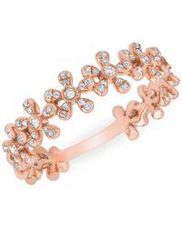 Anne Sisteron - 14kt Rose Gold Diamond Wildflower Ring - Lyst