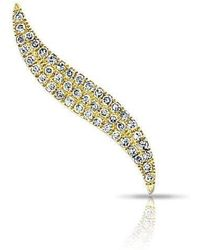 Anne Sisteron - 14kt Yellow Gold Diamond Swerve Ear Climber - Lyst