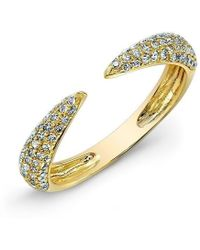 Anne Sisteron - 14kt Yellow Gold Diamond Horn Pinkie Ring - Lyst