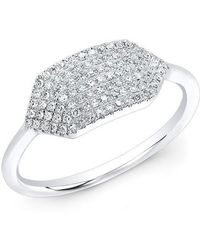 Anne Sisteron | 14kt White Gold Diamond Buckle Ring | Lyst