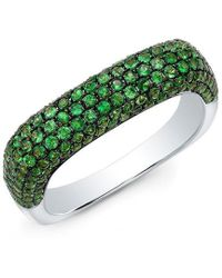 Anne Sisteron - 14kt White Gold Savorite Square Ring - Lyst