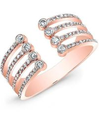 Anne Sisteron - 14kt Rose Gold Diamond Electric Ring - Lyst