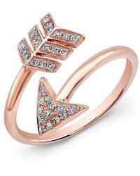 Anne Sisteron - 14kt Rose Gold Diamond Wrap Around Arrow Ring - Lyst