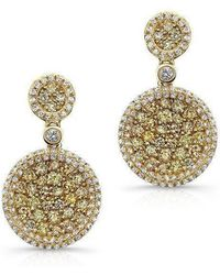 Anne Sisteron - 14kt Yellow Gold White And Yellow Diamond Mae Earrings - Lyst
