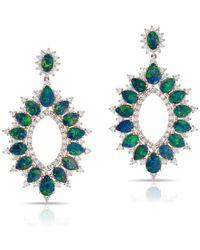 Anne Sisteron - 14kt Rose Gold Diamond Opal Kai Earrings - Lyst