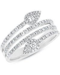 Anne Sisteron - 14kt White Gold Diamond Viper Ring - Lyst