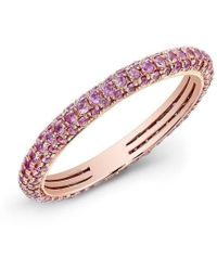 Anne Sisteron - 14kt Rose Gold Pink Sapphire Ring - Lyst
