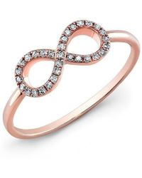 Anne Sisteron - 14kt Rose Gold Diamond Small Infinity Ring - Lyst