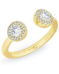 Anne Sisteron - 14kt Yellow Gold Diamond Pia Pinkie Ring - Lyst