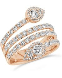 Anne Sisteron - 14kt Rose Gold Diamond Luxe Viper Ring - Lyst