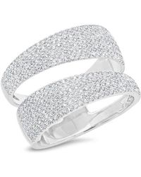Anne Sisteron - 14kt White Gold Diamond Open Pave Ring - Lyst