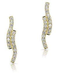 Anne Sisteron - 14kt Yellow Gold Diamond Ripple Stud Earrings - Lyst