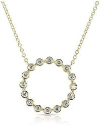 Anne Sisteron - 14kt Yellow Gold Open Circle Bezel Set Diamond Necklace - Lyst