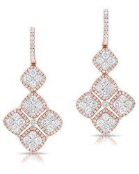 Anne Sisteron - 18kt Rose And White Gold Diamond Marie Antoinette Earrings - Lyst
