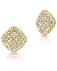 Anne Sisteron - 14kt Yellow Gold Diamond Whirl Stud Earrings - Lyst
