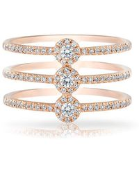 Anne Sisteron - 14kt Rose Gold Diamond Triple Circuit Ring - Lyst