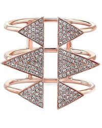 Anne Sisteron | 14kt Rose Gold Diamond Triple Spike Ring | Lyst