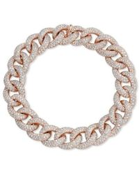 Anne Sisteron | 14kt Rose Gold Diamond Luxe Chain Link Bracelet | Lyst