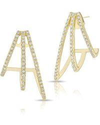 Anne Sisteron - 14kt Yellow Gold Diamond Voyage Stud Earrings - Lyst
