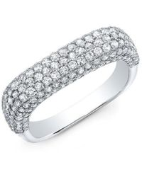 Anne Sisteron - 14kt White Gold Luxe Diamond Square Ring - Lyst