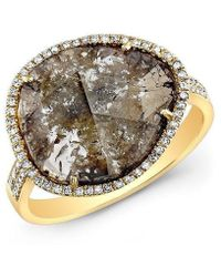 Anne Sisteron | 14kt Yellow Gold Diamond Slice Organic Ring | Lyst