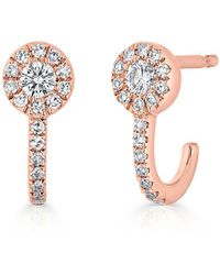 Anne Sisteron - 14kt Rose Gold Diamond Henrietta Earrings - Lyst