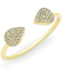 Anne Sisteron - 14kt Yellow Gold Diamond Open Pear Pauline Ring - Lyst
