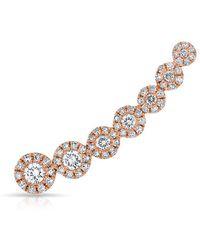 Anne Sisteron - 14kt Rose Gold Diamond Round Malia Ear Climber - Lyst