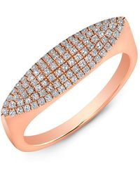 Anne Sisteron - 14kt Rose Gold Diamond Small Capri Ring - Lyst