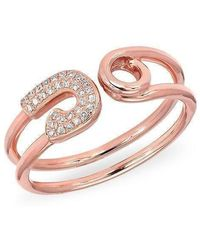 Anne Sisteron - 14kt Rose Gold Safety Pin Wrap Diamond Ring - Lyst