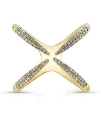 Anne Sisteron - 14kt Yellow Gold Diamond Claw Ring - Lyst