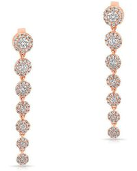 Anne Sisteron - 14kt Rose Gold Diamond Francesca Earrings - Lyst