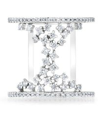 Anne Sisteron - 14kt White Gold Diamond Lace Lana Ring - Lyst