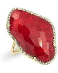 Anne Sisteron - 14kt Yellow Gold Ruby Nuage Diamond Ring - Lyst