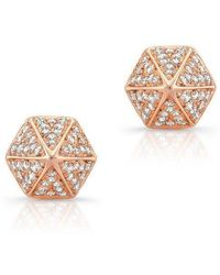 Anne Sisteron - 14kt Rose Gold Diamond Olympia Studs - Lyst