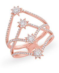 Anne Sisteron - 14kt Rose Gold Diamond Fireworks Ring - Lyst