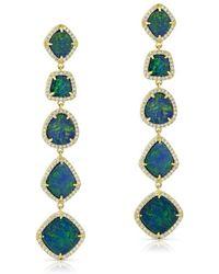 Anne Sisteron - 14kt Yellow Gold Opal Diamond Drop Cristina Earrings - Lyst