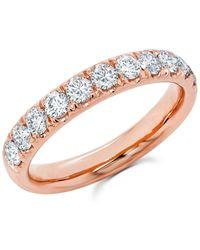 Anne Sisteron - 14kt Rose Gold Luxe Lauren Half Diamond Ring - Lyst