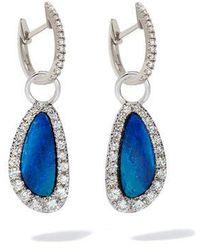 Annoushka - 18ct White Gold Diamond Opal Earrings - Lyst