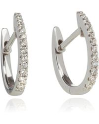 Annoushka - 18ct White Gold And Diamond Eclipse Fine Hoop Earrings - Lyst