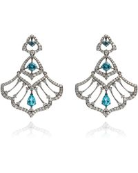Annoushka - Imperial 18ct White Gold Apatite Earrings - Lyst